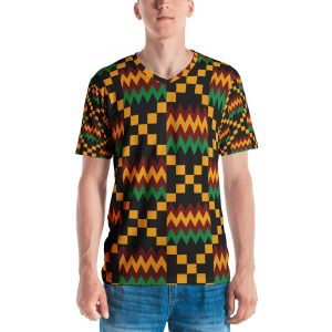 Men Kente Vneck Shirts