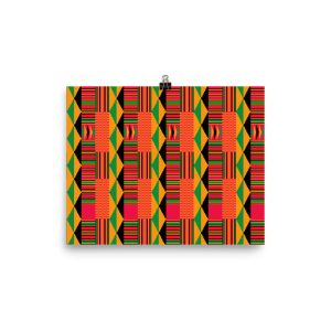 Kente Enhanced Matte Paper Poster