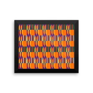 Kente Premium Luster Photo Paper Framed Poster