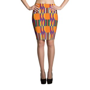 Women Kente Pencil Skirt