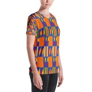 Women Kente Vneck Shirts