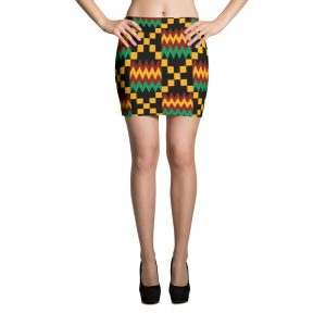 Women Kente Mini Skirt