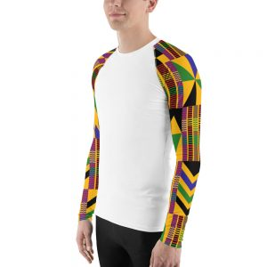 Men Kente Long Sleeve Shirt